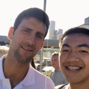Novak selfie 2019